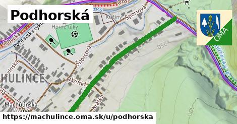 ilustrácia k Podhorská, Machulince - 555m