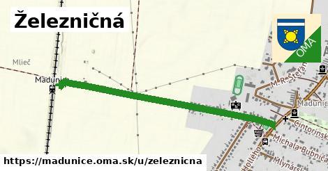 ilustrácia k Železničná, Madunice - 0,85km