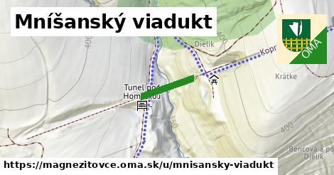 ilustrácia k Mníšanský viadukt, Magnezitovce - 126m
