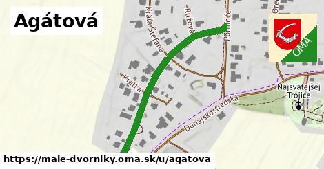 ilustrácia k Agátová, Malé Dvorníky - 416m