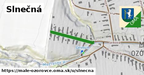 ilustrácia k Slnečná, Malé Ozorovce - 232m