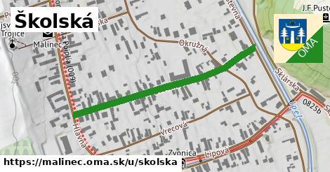 ilustrácia k Školská, Málinec - 436m
