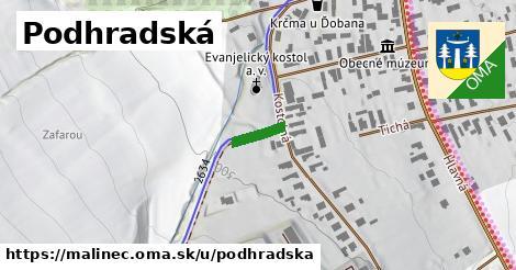 ilustrácia k Podhradská, Málinec - 80m
