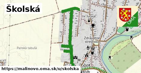 ilustračný obrázok k Školská, Malinovo