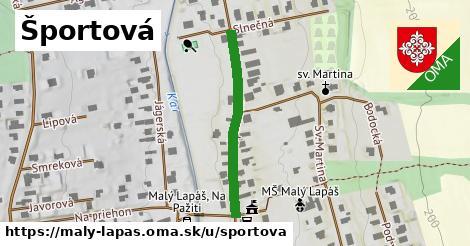 ilustrácia k Športová, Malý Lapáš - 297m
