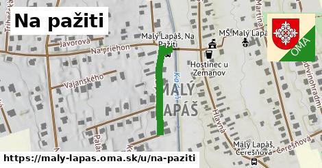 ilustrácia k ulica Na pažiti, Malý Lapáš - 205m