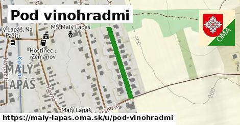 ilustrácia k ulica Pod vinohradmi, Malý Lapáš - 232m