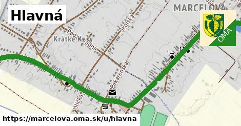 ilustrácia k Hlavná, Marcelová - 2,2km