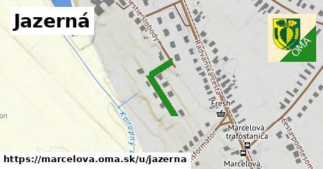 ilustrácia k Jazerná, Marcelová - 383m