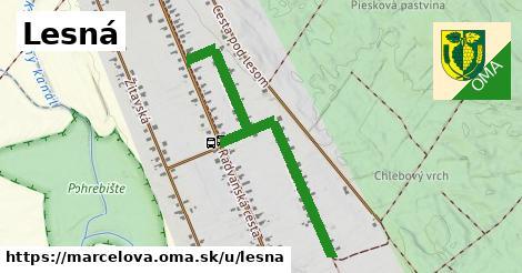 ilustrácia k Lesná, Marcelová - 1,01km