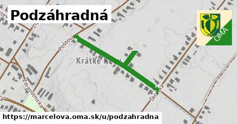 ilustrácia k Podzáhradná, Marcelová - 315m