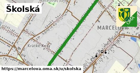 ilustrácia k Školská, Marcelová - 1,00km