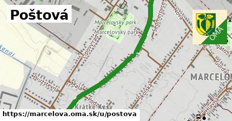 ilustrácia k Poštová, Marcelová - 1,16km