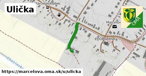 ilustrácia k Ulička, Marcelová - 167m