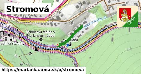 ilustrácia k Stromová, Marianka - 195m
