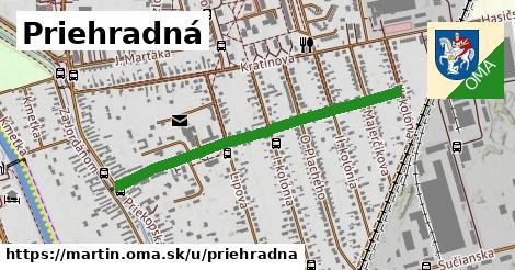 ilustrácia k Priehradná, Martin - 0,86km