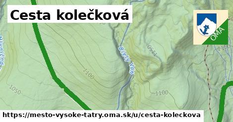 ilustrácia k Cesta kolečková, mesto Vysoké Tatry - 4,8km