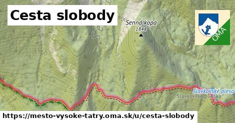 ilustrácia k Cesta slobody, mesto Vysoké Tatry - 43km