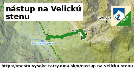 ilustrácia k nástup na Velickú stenu, mesto Vysoké Tatry - 258m