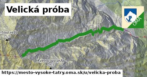 ilustrácia k Velická próba, mesto Vysoké Tatry - 610m