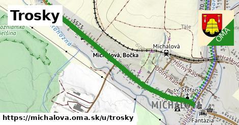 ilustrácia k Trosky, Michalová - 1,10km