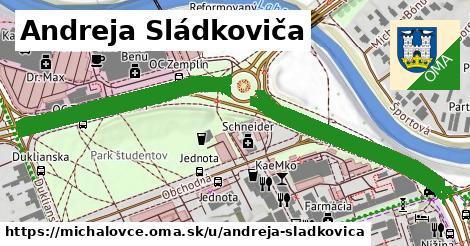 ilustrácia k Andreja Sládkoviča, Michalovce - 1,38km