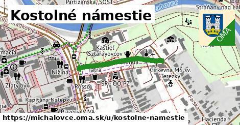 ilustrácia k Kostolné námestie, Michalovce - 280m