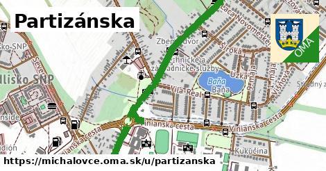 ilustrácia k Partizánska, Michalovce - 1,75km