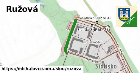 ilustrácia k Ružová, Michalovce - 184m
