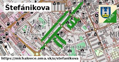 ilustrácia k Štefánikova, Michalovce - 2,3km