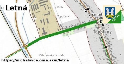 ilustrácia k Letná, Michalovce - 0,88km