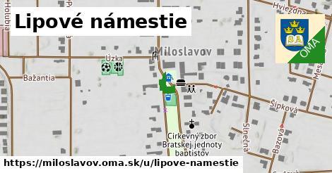 ilustrácia k Lipové námestie, Miloslavov - 285m