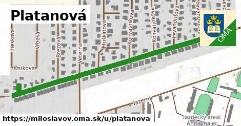 ilustrácia k Platanová, Miloslavov - 0,73km