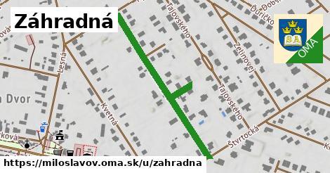 ilustrácia k Záhradná, Miloslavov - 391m