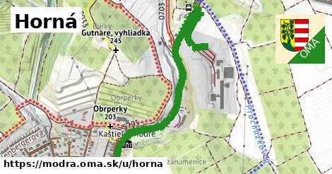 ilustrácia k Horná, Modra - 1,29km