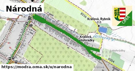 ilustrácia k Národná, Modra - 1,04km