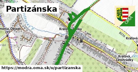 ilustrácia k Partizánska, Modra - 1,43km