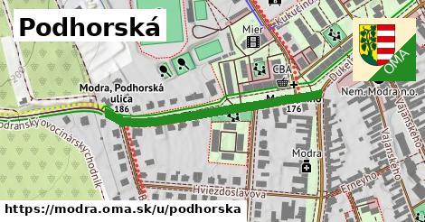 ilustrácia k Podhorská, Modra - 393m