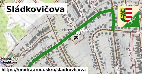 ilustrácia k Sládkovičova, Modra - 0,72km