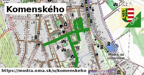 ilustrácia k Komenského, Modra - 1,47km