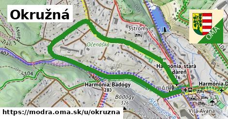 ilustrácia k Okružná, Modra - 2,0km