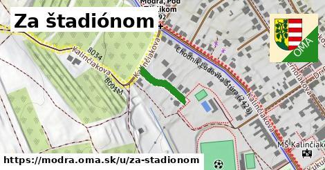 ilustrácia k Za štadiónom, Modra - 128m