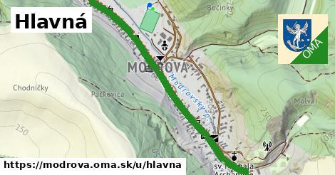 ilustrácia k Hlavná, Modrová - 1,41km