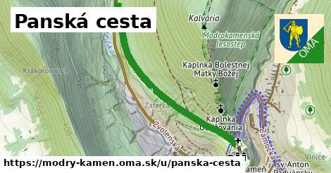 ilustrácia k Panská cesta, Modrý Kameň - 0,89km