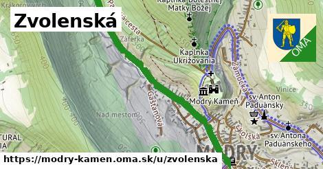 ilustrácia k Zvolenská, Modrý Kameň - 0,99km