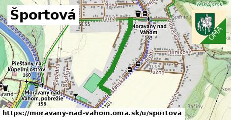 ilustrácia k Športová, Moravany nad Váhom - 582m