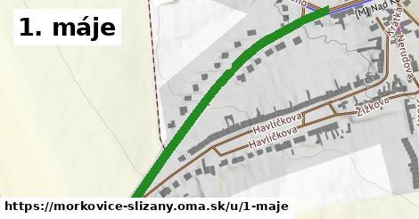 ilustrácia k 1. máje, Morkovice-Slížany - 580m