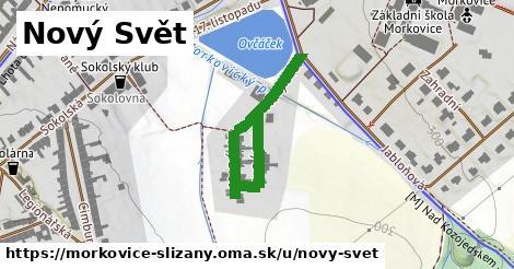 ilustrácia k Nový Svět, Morkovice-Slížany - 386m