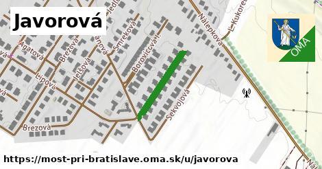 ilustračný obrázok k Javorová, Most pri Bratislave