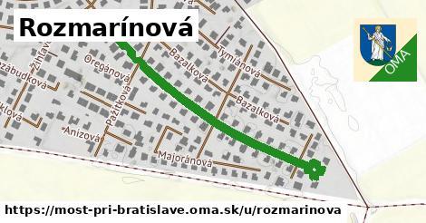ilustrácia k Rozmarínová, Most pri Bratislave - 467m